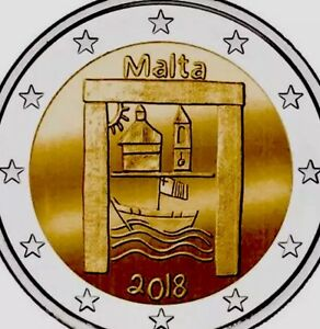 Malta 🇲🇹 Coin 2€ Euro 2018 Comm. Cultural Heritage UNC F.Roll (300k Mintage)