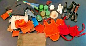 Vintage Huge Lot 1960s GI Joe Clothes (Jumpsuits boots hats vests pants shirts)