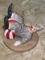 """Vintage Henry Wilson 1986 Laughing Clown Playing With Beach Ball 3.75x4.5"""""""