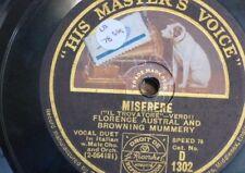 """78rpm 12"""" FIRENZE Austral/Browning Mummery Miserere/AI NOSTRI MONTI ritorne"""