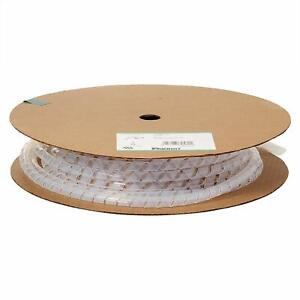 "(1 Foot) Panduit T25T-L Spiral Wrap Cable Tubing  Teflon .25 OD"""