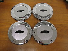 "8"" CHEVROLET CENTER CAPS FOR 22"" ESCALADE CHROME WHEELS RIMS 5309 SET OF 4 NEW"