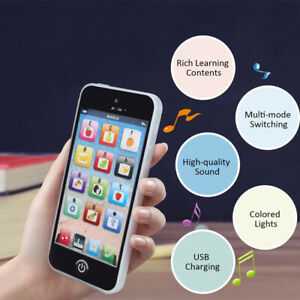Educational Learning Touch Screen Music Cell Phone Toy Kids Children Gifts Black