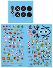 Alliance Model Works 1:48 Bf-109 Unit Badges Decal Set #AW036