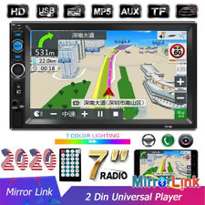 Car Radio 2 Din 7'' Touch Mirror Link FM TF USB AUX MP5 Android/IOS Bluetooth
