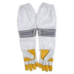 OZ BEE Beekeeping Bee Gloves Cow Hide Ventilated  Heavy Duty Gloves