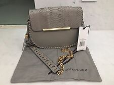 B BRIAN ATWOOD Grace Leather and Snakeskin Crossbody