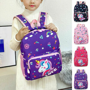 Girls Backpack School Bag Childrens Kids Unicorn Toddler Rucksack Unicorn Print