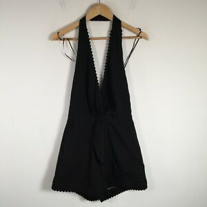 Seed Heritage BNWT Womens Playsuit Romper size 8 halter neck sleeveless backless