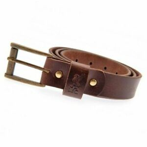 Liverpool FC Brown Leather Belt M L XL Embossed Liverbird Official Merchandise