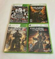 Gears of War 1 2 3 Sleeping Dogs Game Lot Bundle Microsoft Xbox 360 COMPLETE