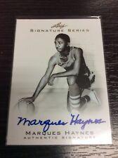 2012-13 Leaf Signature Marques Haynes On Card Auto Autograph