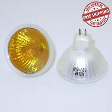 NEW 2 X  Halogen MR16 GU5.3 12V 50W Light Globes Bulb Downlight YELLOW