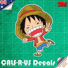 One Piece Monkey Luffy Smile Decal Sticker Car Luggage Skateboard 3M Film 100mm