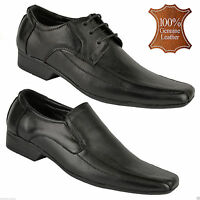 NEW MENS REAL LEATHER ITALIAN CASUAL FORMAL OXFORD OFFICE WORK WEDDING SHOES