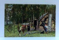 C. 1909 Spokane County Washington Home Of Big Game Cabin Horse Vintage Postcard
