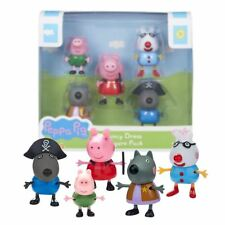 New Peppa Pig Fancy Dress 5 Figure Pack George Danny Pedro & Wendy Official
