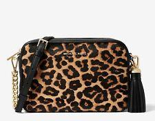 Michael Kors Shoulder Bag Jet Set Crossbody Butterscotch Calf Skin New