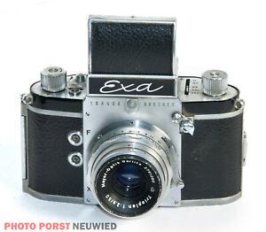 Exa mit Meyer-Optik Trioplan 2,8/50 mm * Spiegelreflexkamera aus alten Zeiten