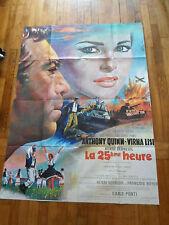 Affiche cinéma - La 25 eme heure - Henri Verveuil - 120 / 160