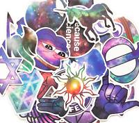 12 Random Starry Sky Skateboard Laptop Meme Stickers