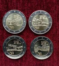Malta 2 Euro set 4/7 coins. Series Maltese prehistoric monuments. UNC
