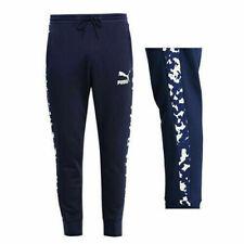 Puma Men's Track Pants Camo T7 Sports Trousers - Navy - New