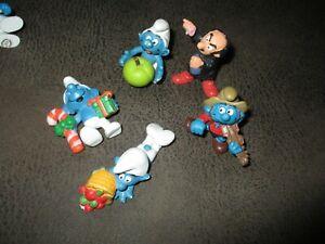 Les Schtroumpfs-Lot figurines Peyo,Schleich-(pomme,Gargamel...)1982