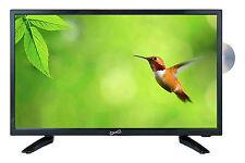 "LED 19"" HDTV TELEVISION +DVD PLAYER w/ USB/SD HDMI 12V CAR CORD AC/DC REMOTE NEW"