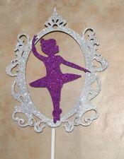 Magic Mirror Ballet Girl Topper ~ NEW ~width 9cms x 11cms ~ Glittery Card!