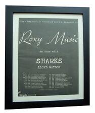 ROXY MUSIC+Pleasure+TOUR+POSTER+AD+RARE ORIGINAL 1973+FRAMED+EXPRESS GLOBAL SHIP