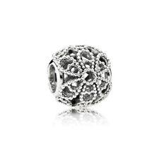 100% Originale Pandora Charm Openwork Rose elemento 791282 Argento Bead