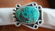 Old Pawn Navajo Royston Turquoise Nugget Sterling Silver Size 4.5