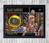 IRON MAIDEN SOMEWHERE IN TIME CUADRO GOLD/PLATINUM CD EDICION LIMITADA. FRAMED
