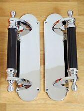 3rd paire grand 30.5cm Nickel Plaqué RUCHE poignées de porte boutons assiettes