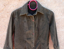 Chemise ou veste velours cotelé gris-vert sombre taille 36 TBE