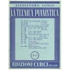 ALESSANDRO LONGO - LA TECNICA PIANISTICA Fasc. I Parte B - Edizioni Curci