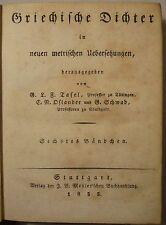 GRIECHISCHE AUTOREN in Übersetzungen: KALLIMACHOS / PHILOSTRATOS WERKE 1828/1833