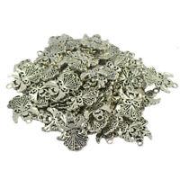 50x Bulk Filigree Angel Charms/Pendants Vintage Steampunk Jewelry DIY Craft