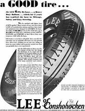 Lee Tire 1930 - Lee Tire Ad - a Good tire… the Lee 6-Ply DeLuxe… a Heavy Duty Ba