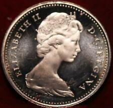 Uncirculated Proof 1965 Canada 10 Cents Silver Foreign Coin