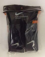 Nike SX4434-001 Performance Cushion Crew Socks Large - Black