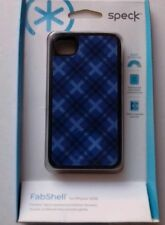 Speck FabShell Case -Tartan Plaid Blue for iPhone 4s/4 #SPK-A1210 NOS