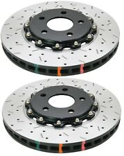 DBA Front Drilled & Slotted 5000 Series 2 Piece Rotor for Camaro SS 10-12 (Pair)