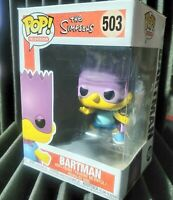 Funko Pop! The Simpsons Bartman Vinyl Figure with Pop Protector and Box Damage