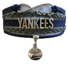 New York Yankees Baseball Infinity Bracelet Jewelry Apparel