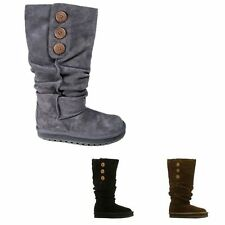 Flat (less than 0.5') Slouch Boots Slip On Shoes for Women