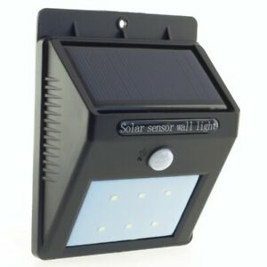 Solar wall lamp 120lm PV 1W motion sensor PowerNeed, SL09P