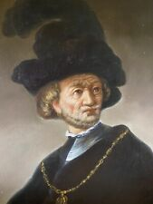 """Rembrandt """"Old Man With Chain"""" """"Masters Style"""" Reproduction Oil Painting Canvas"""