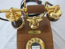 """DFeAp 301 """"Lyon"""" DFG 06.1988 Telefon Holz Edelholz Antik 100%Funktion Post"""